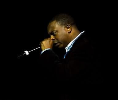 Michael Winslow with Microphone