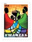 U.S. Postal Service Kwanzaa stamp, 2001.